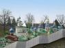 Псково-Печерский монастырь. Вид со смотровой площадки
