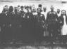 Наместник Псково-Печерского монастыря Игумен Павел (Горшков) с группой офицеров Красной Армии. Осень 1944 г.