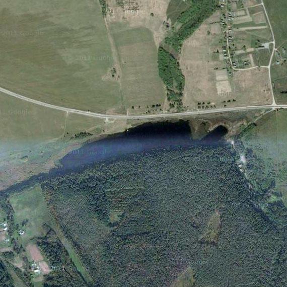 Утецкое озеро со спутника