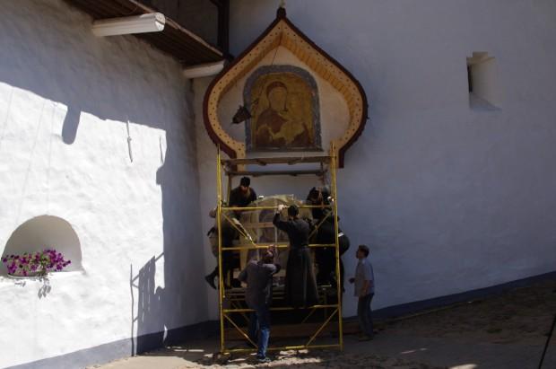 Мозаичные иконы Псково-Печерского монастыря (9)